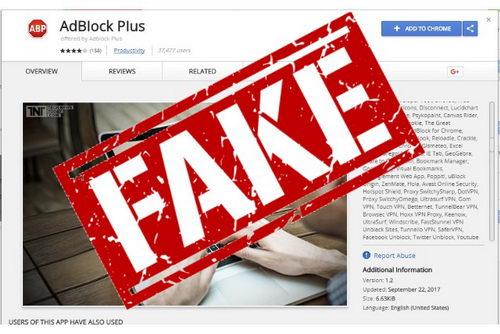 В интернете выявили фальшивое расширение Adblock для Chrome