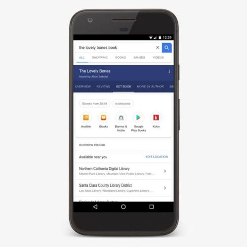 Google начал показывать карточки с аудиокнигами