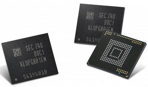 Samsung начала выпускать чипы памяти на 512 Гбайт для смартфонов