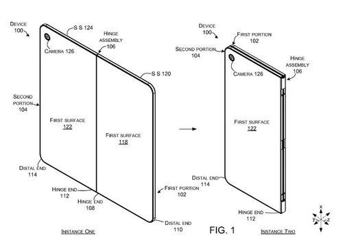 Microsoft патентует смартфон со складывающимся дисплеем