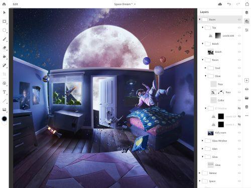 Photoshop для iPad выйдет в 2019 году