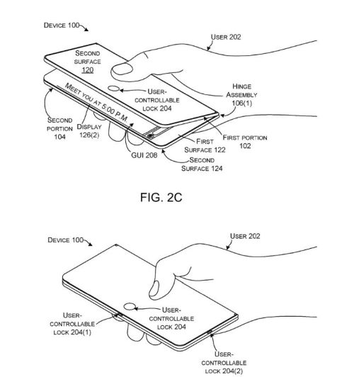 Microsoft запатентовала складной смартфон