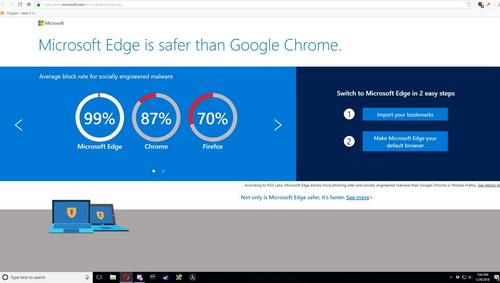 Microsoft поймали на рекламе Edge в Opera