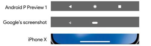 Android 9 подражает iPhone X
