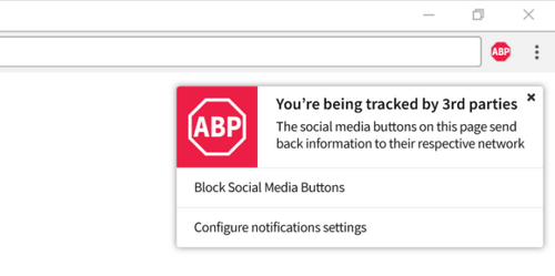Adblock Plus начнет блокировать слежку со стороны соцсетей