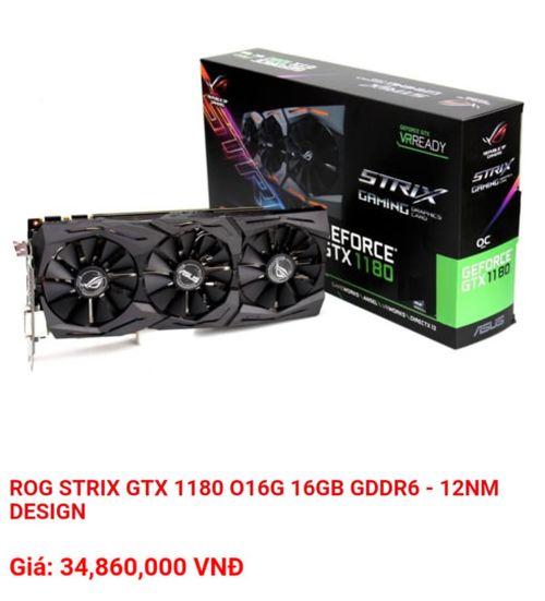 GeForce GTX 1180 уже продается во Вьетнаме