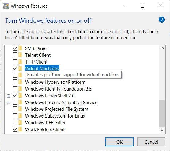 Windows 10 позволит работать с виртуальными машинами без Hyper-V