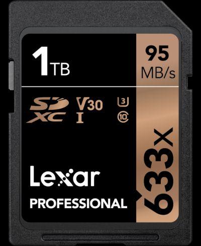 Lexar выпустила SD-карточку емкостью 1 Тбайт