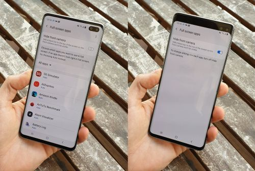 Дырку в экране Galaxy S10 можно заменить на огромную черную полосу